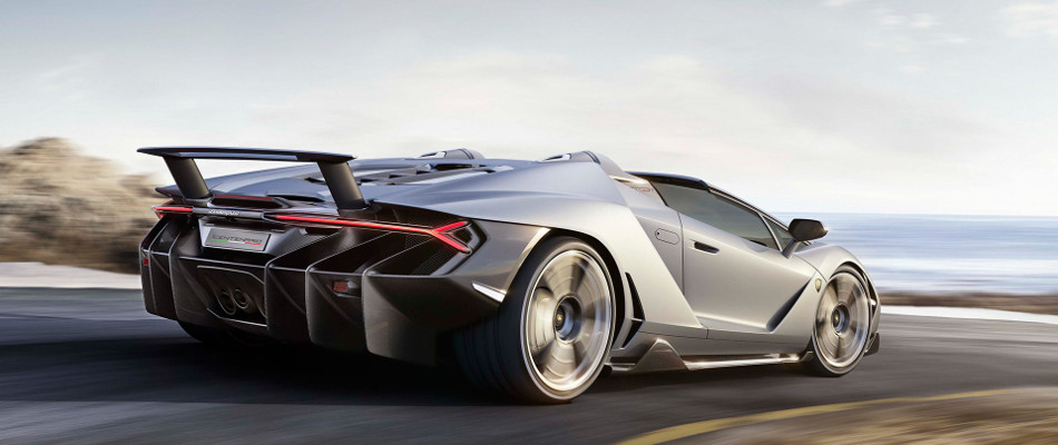 2017 Lamborghini Centenario Roadster Rear View