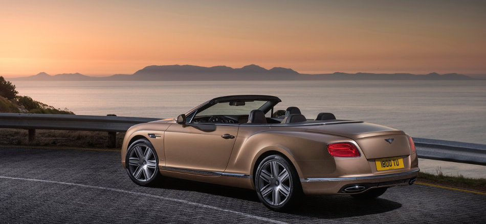 Bentley Continental GT Convertible Rear View