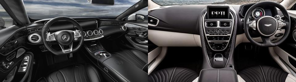 Aston Martin DB11 Interior vs. Mercedes- Benz AMG S 63 Coupe Interior