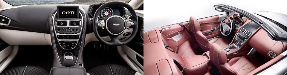 Aston Martin DB9 Interior vs DB11 Interior