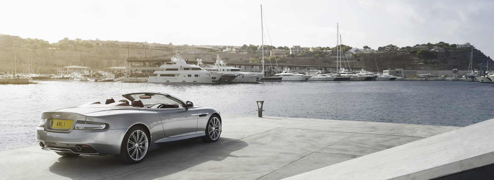 Aston Martin DB9 Parked Near Harbor
