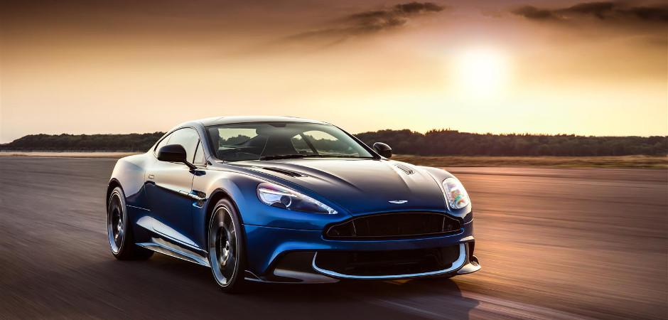Aston Martin Vanquish S in Sunset