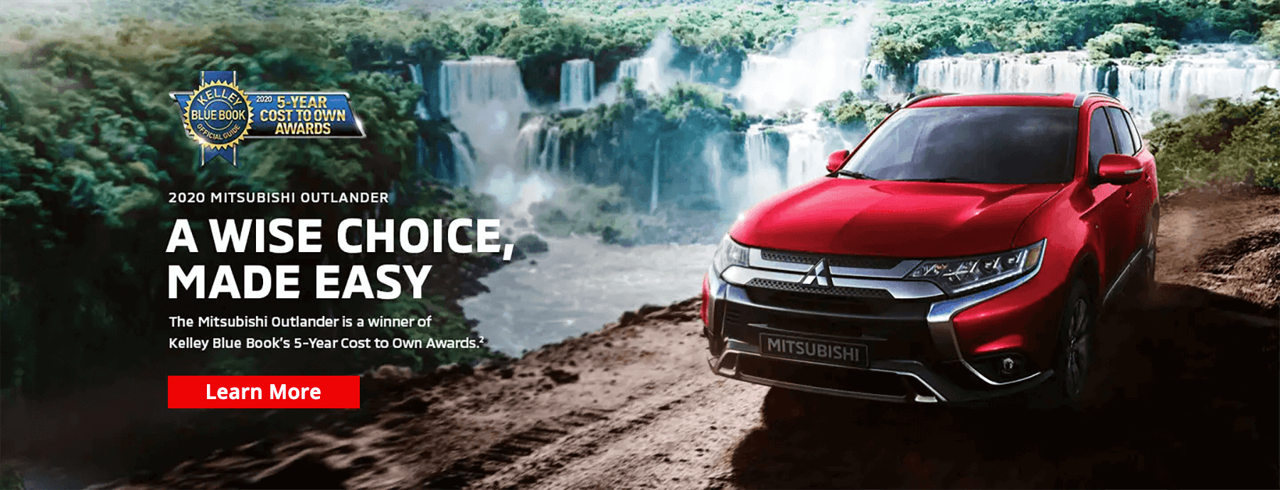 2020 Mitsubishi Outlander Kelley Blue Book 5-Year Cost to Own Award Slide