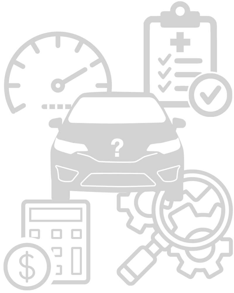 Buying a Used Car Icon Collage