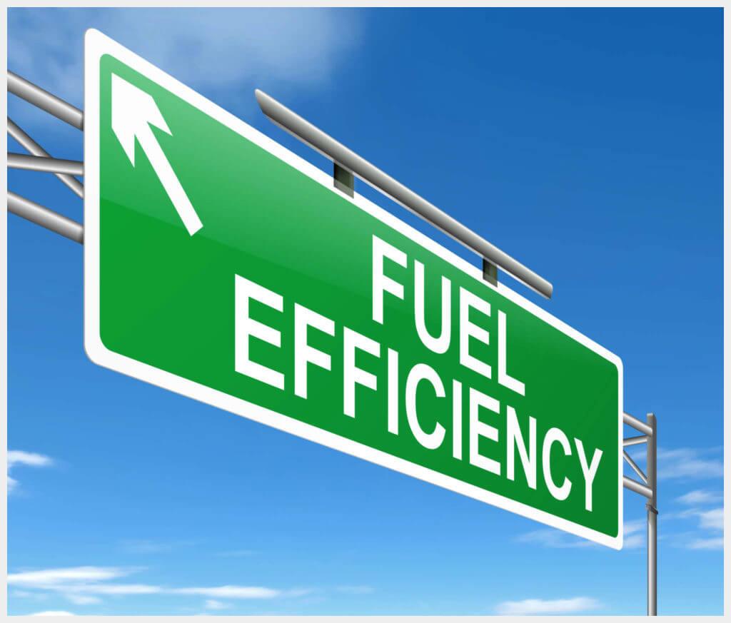 Fuel Efficiency Road Sign Graphic