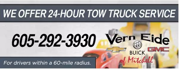 Vern Eide of Mitchell -24 hour tow truck service