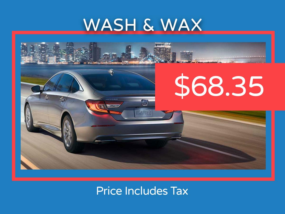 Honda Car Wash & Wax Service Coupon