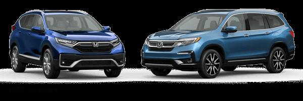 2020 Honda CR-V vs. 2021 Honda Pilot Image