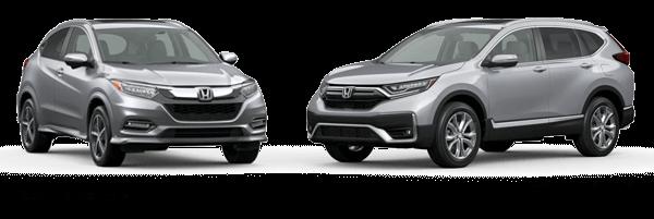 2021 Honda HR-V versus 2020 Honda CR-V Jellybean