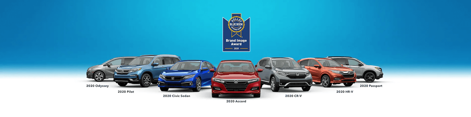 Kelley Blue Book Honda Best Value Brand Award Banner