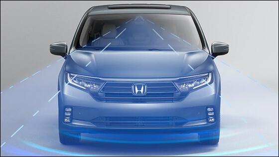 Honda Odyssey with Adaptive Cruise Control