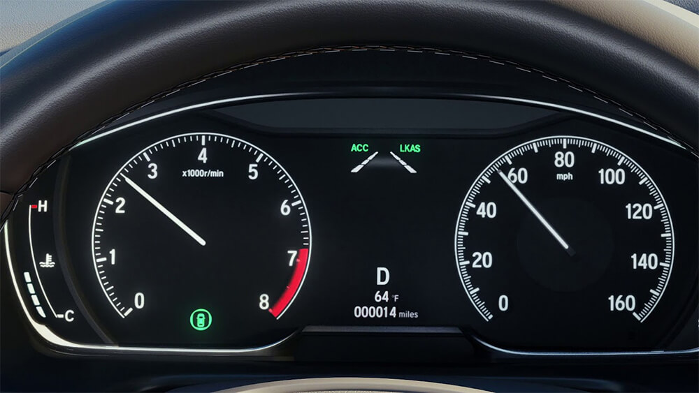 Honda Lane Keeping Assist System Instrument Panel Image