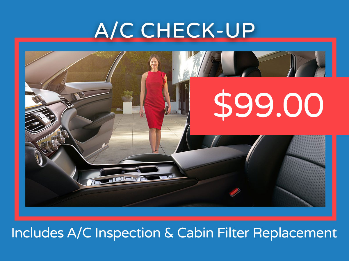 Honda Air Conditioning Service Coupon
