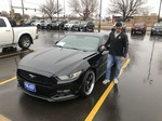2015 FORD MUSTANG AND HAPPY OWNER