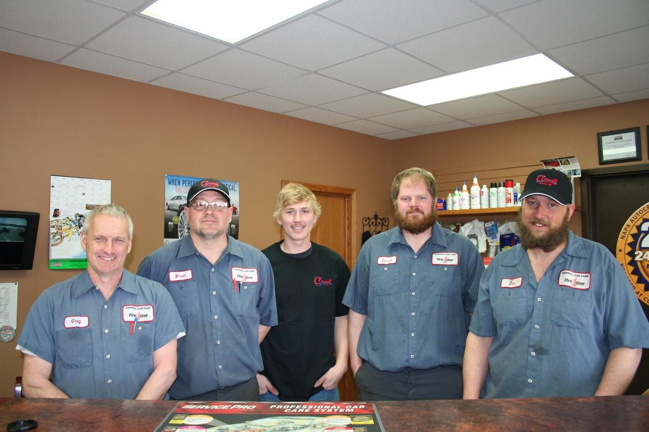 Greg, Brian, Coy Derick, Dan