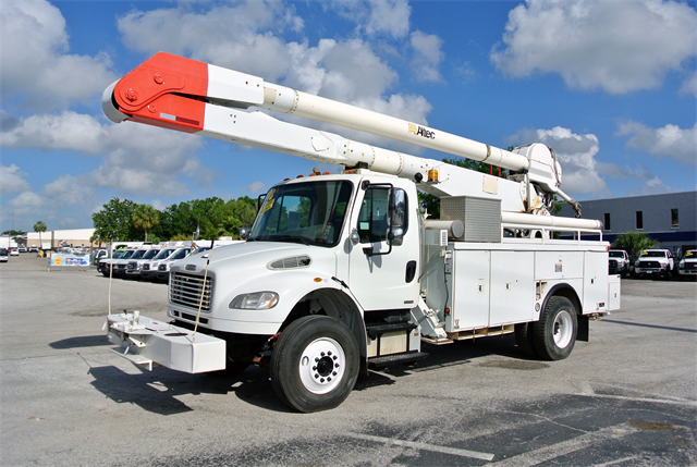 Stock 27661 Used 2008 Freightliner M2 60ft Boom Material
