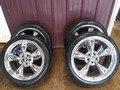 COBRA RIMS W/ TIRES
