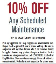 10% Off Any Scheduled Maintenance