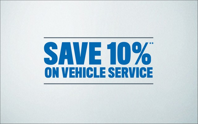 Save 10% of Vehicle Services