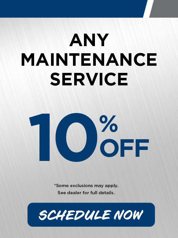 10% off Maintenance Service