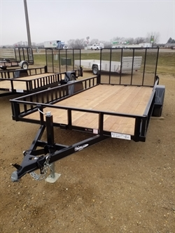 "2021 H & W 82""x14ft ATV Utility w/Side Ramps"