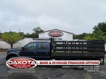 2009 FORD F550 XLT CREWCAB 11FT FLATBED/STAKEBED