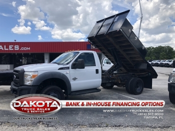 2011 FORD F-450 12FT FLATBED DUMP W/BOXES