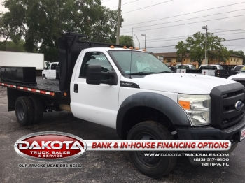 2011 FORD F-450 REG CAB 11FT FLATBED W/BOXES