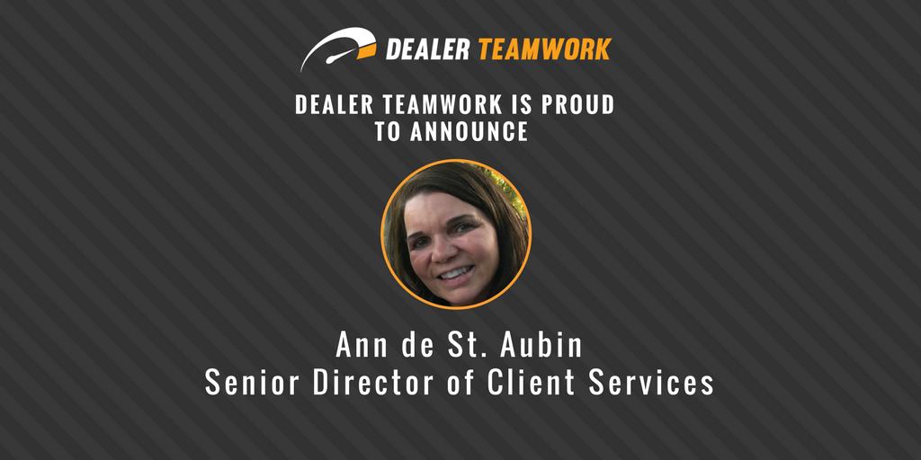 Dealer Teamwork Names Ann de St. Aubin Senior Director of Client Services