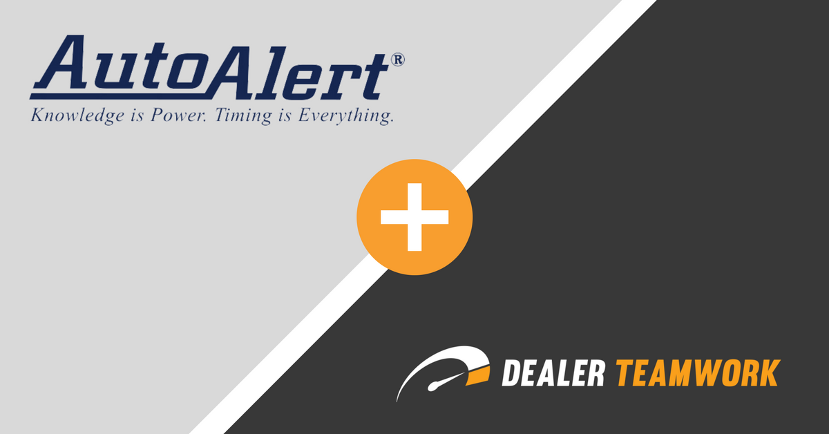 Dealer Teamwork Announces Partnership with AutoAlert