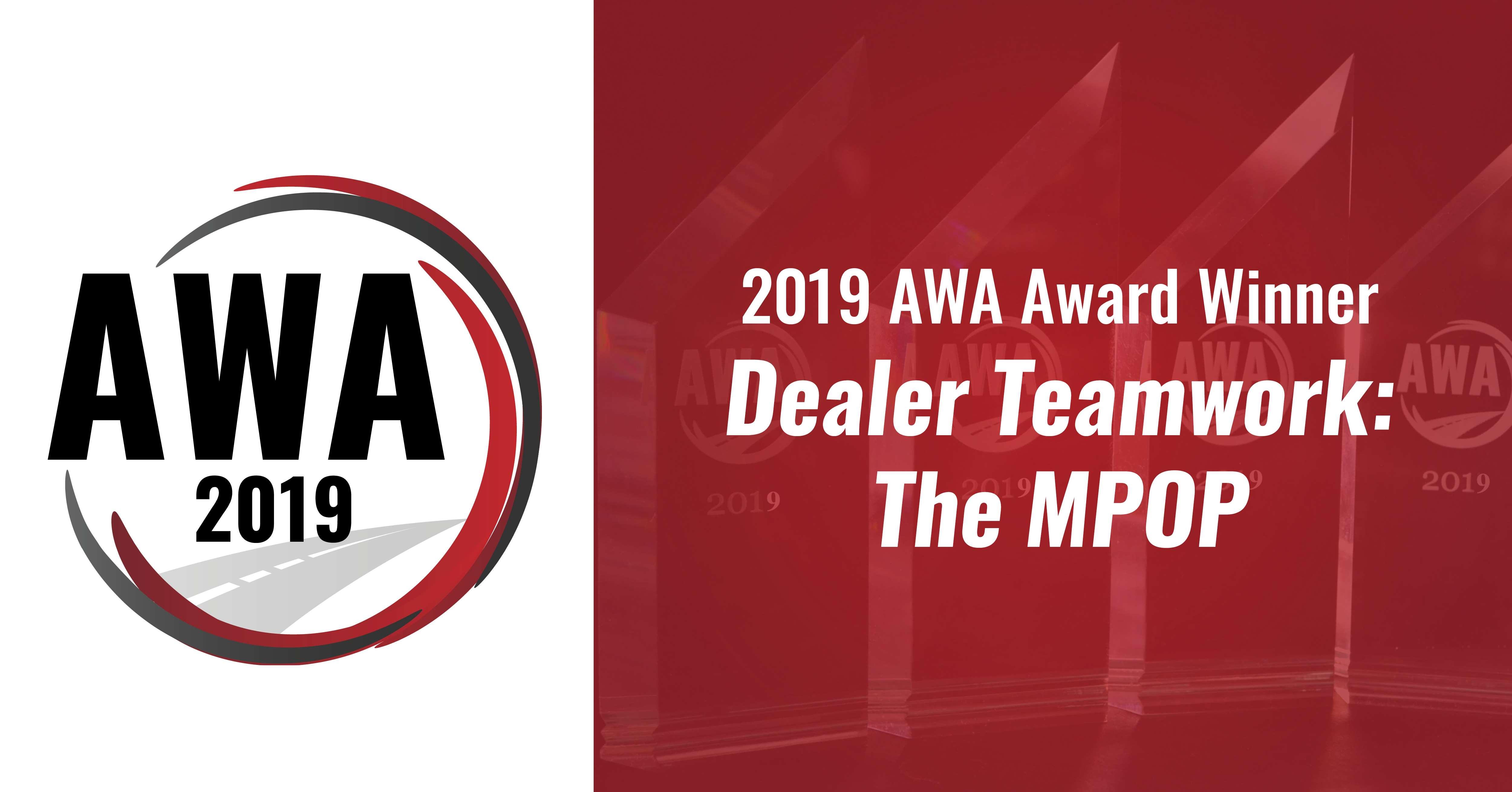 Dealer Teamwork Named Innovation Leader at 2019 AWA Awards