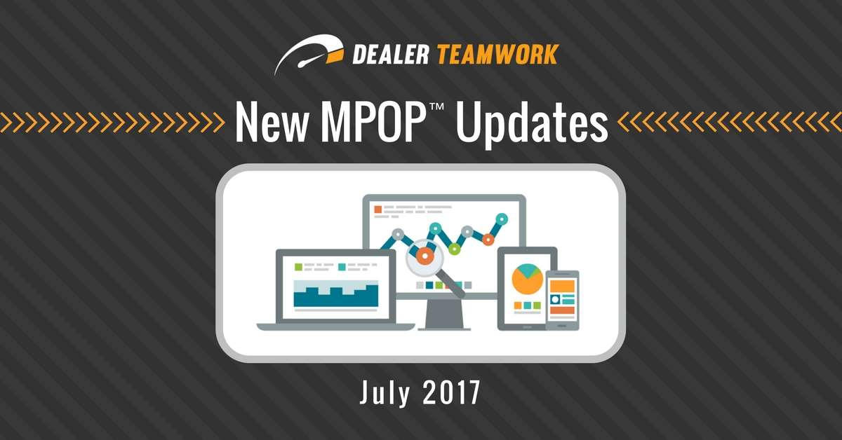 New MPOP™ Enhancements and Updates July 2017