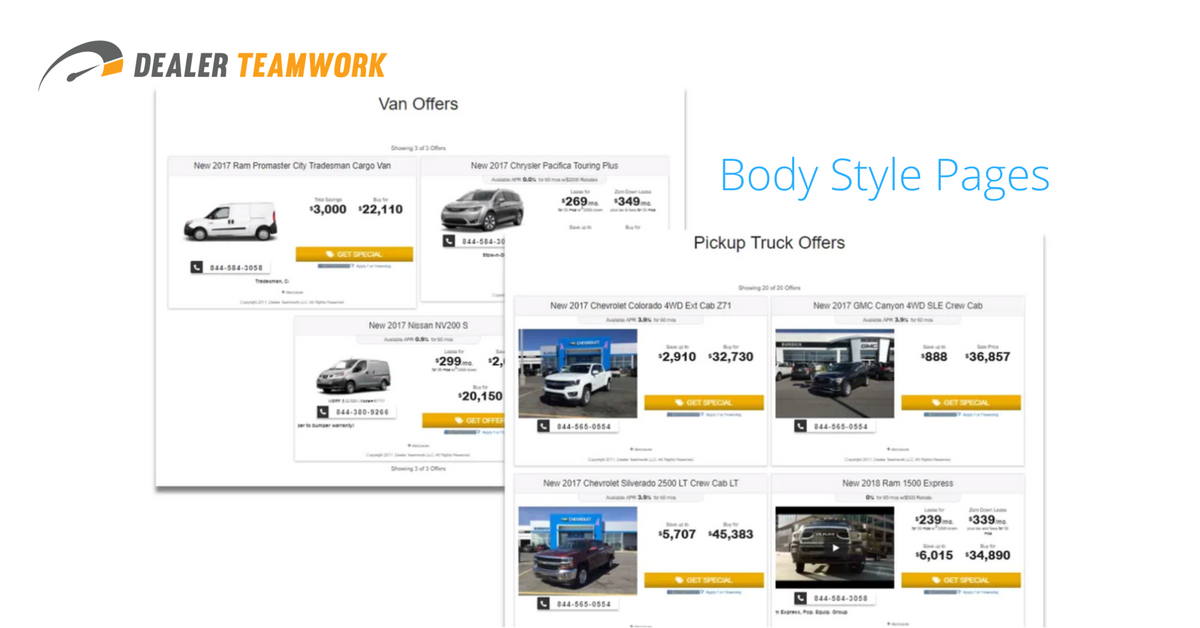 Introducing Body Style Landing Pages from Dealer Teamwork