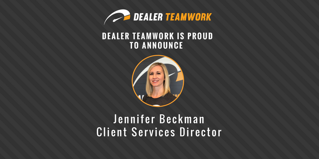 Dealer Teamwork Adds Jennifer Beckman as Client Services Director of Growing Client Services Team