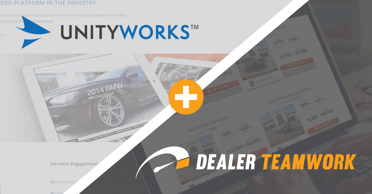 Dealer Teamwork and UnityWorks Enter into Strategic Alliance
