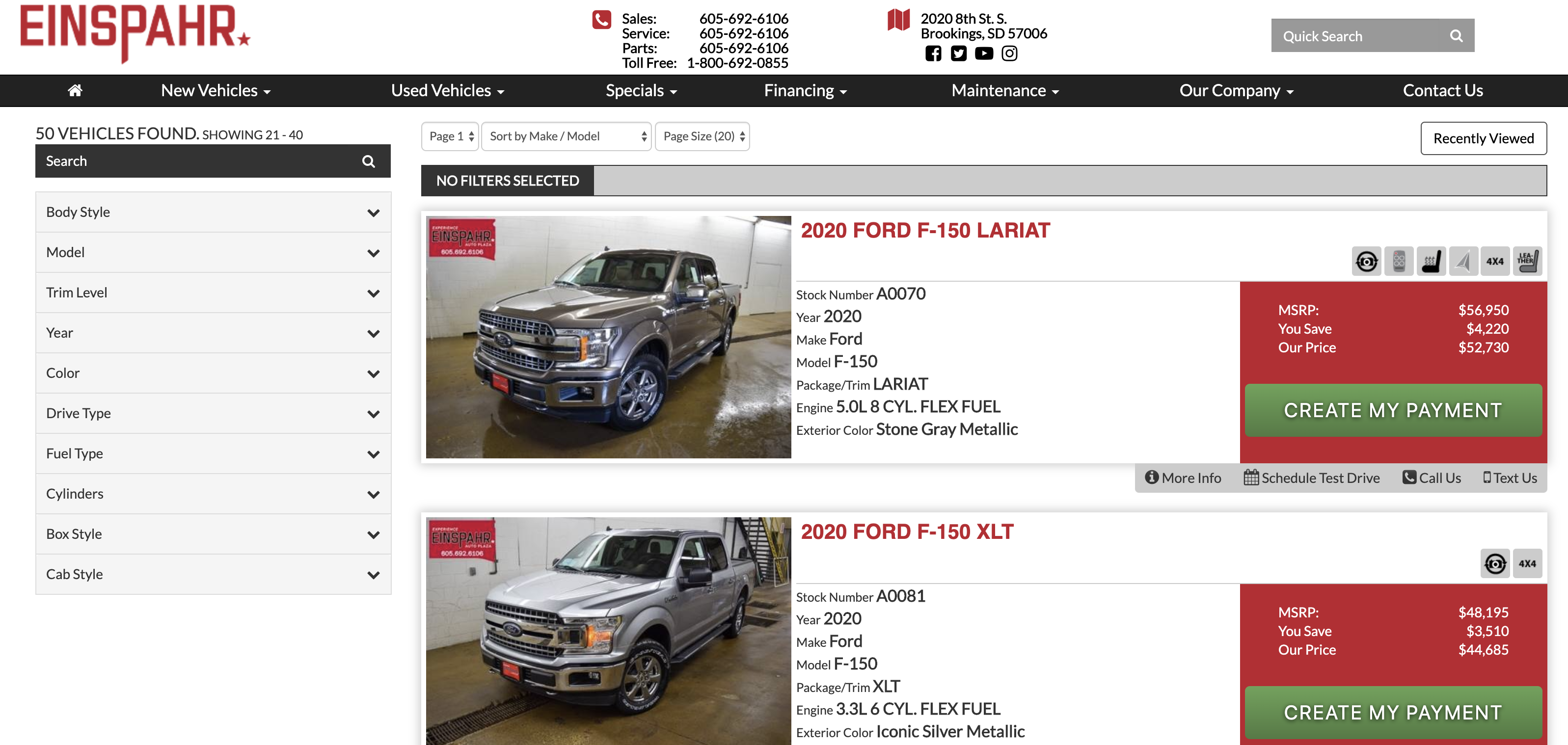 f-150 for sale in brookings