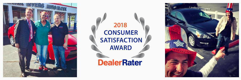 Frank Myers Auto Maxx DealerRater Consumer Satisfaction Award