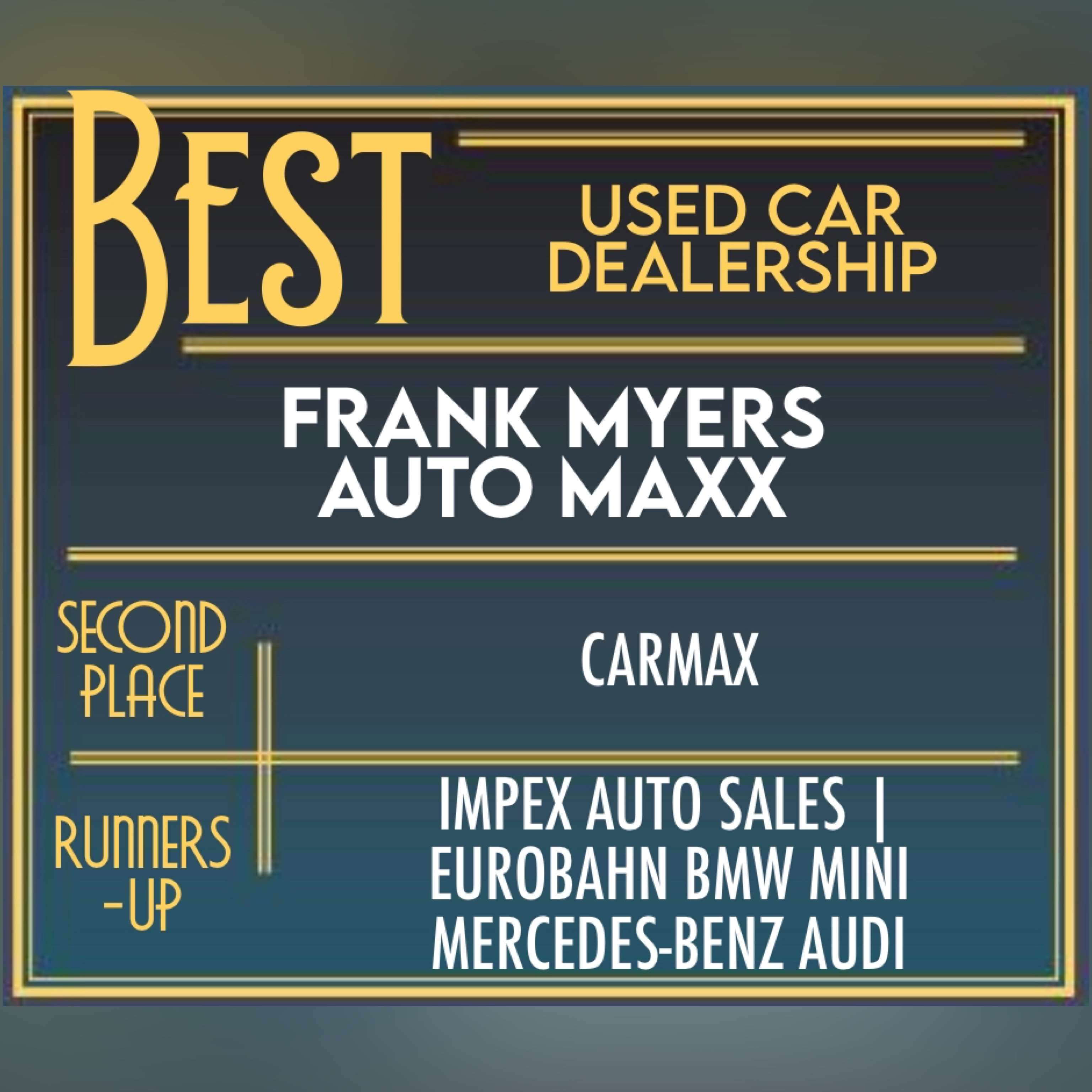 Best Used Car Dealership in the Triad is Frank Myers Auto