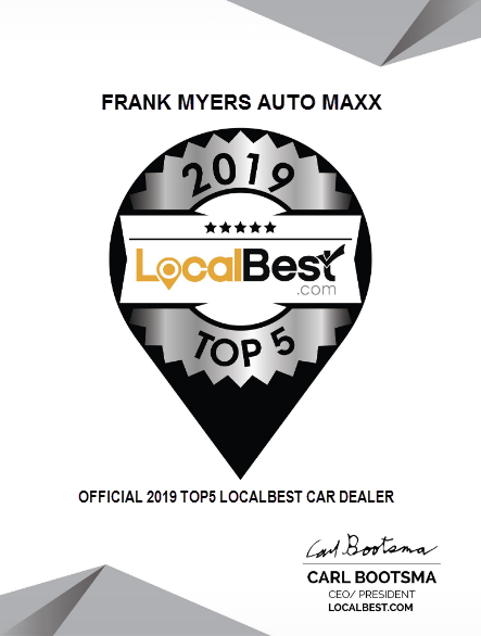 Frank Myers Auto Named Local Best