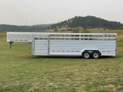 "2021 FEATHERLITE 8127 STOCK TRAILER 7FT.6""X26FT"