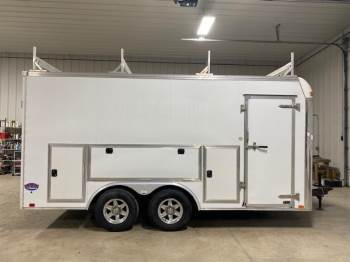 2014 United Trailer 8.6FTX16FT Enclosed Contractor Trailer