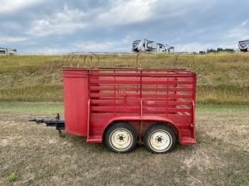 1967 Hale 5X10 Bumper Pull Stock trailer