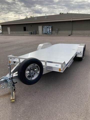 2021 MISSION ALUMINUM 8FT X 20FT OPEN CAR HAULER