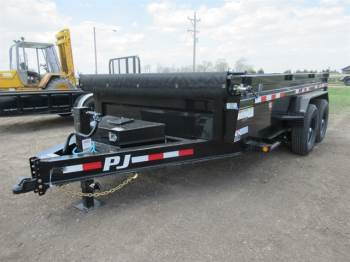 2021 PJ 14FT LOW-PRO DUMP TRAILER