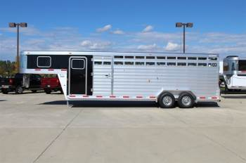 2019 EXISS 7X24 STOCK COMBO TRAILER
