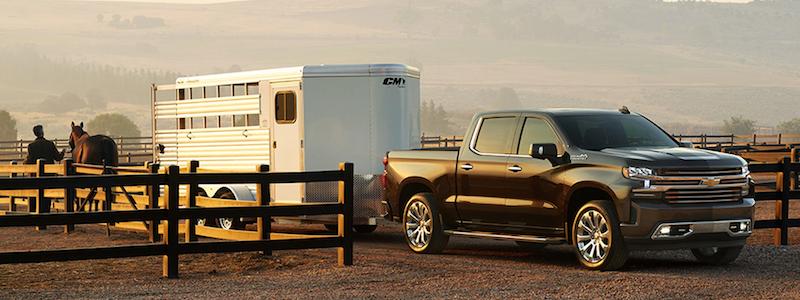 2020 Chevrolet Silverado 1500 towing a trailer