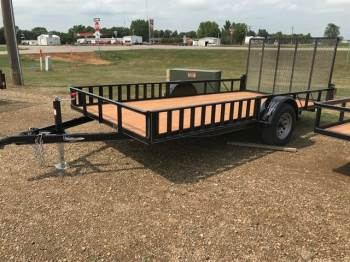 "2019 H & W 82""x14ft Utility w/Side Ramps"