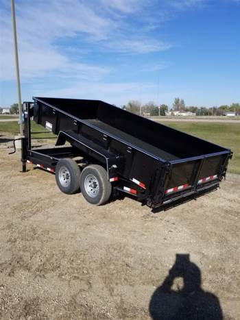2019 DCT 7x14ft Low Profile Gooseneck Dump