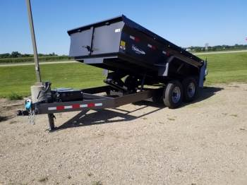 2019 H & W 7x14ft Dump Trailer