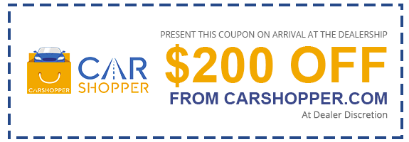 Present this coupon to the dealer for $200 Off from Carshopper.com